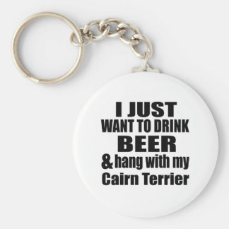 Hang With My Cairn Terrier Keychain
