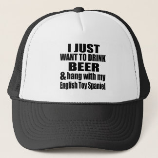 Hang With My English Toy Spaniel Trucker Hat
