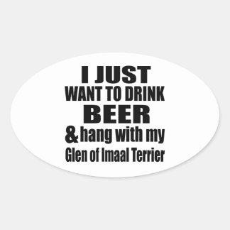 Hang With My Glen of Imaal Terrier Oval Sticker