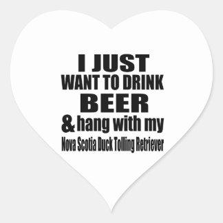 Hang With My Nova Scotia Duck Tolling Retriever Heart Sticker