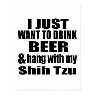 Hang With My Shih Tzu Postcard