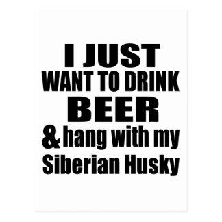 Hang With My Siberian Husky Postcard