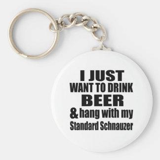 Hang With My Standard Schnauzer Keychain