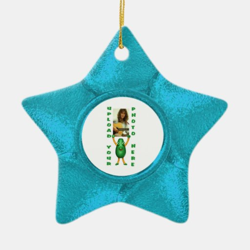 Hang your blues Double-Sided star ceramic christmas ornament