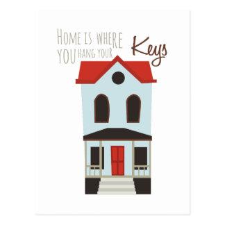 Hang Your Keys Postcard