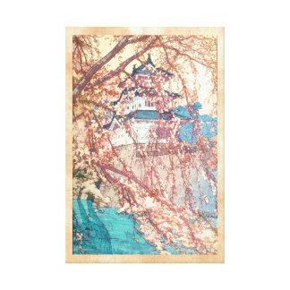 Hanga de la espinilla de Japón del castillo de Yos Impresiones De Lienzo