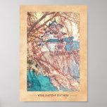 Hanga de la espinilla de Japón del castillo de Yos Poster