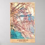 Hanga de la espinilla de Japón del castillo de Yos Posters