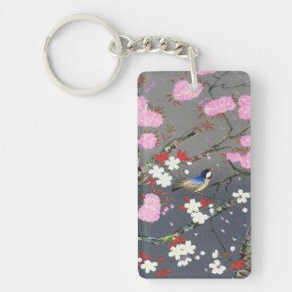 Hanga de la espinilla del bluebird de las flores d llavero