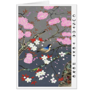 Hanga de la espinilla del bluebird de las flores d tarjetas