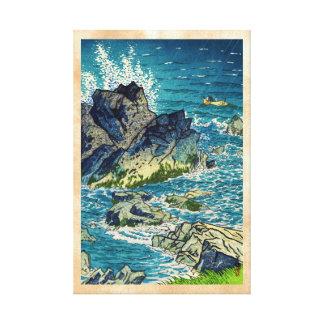 Hanga del waterscape del cabo de Kasamatsu Shiro I Impresiones En Lienzo Estiradas