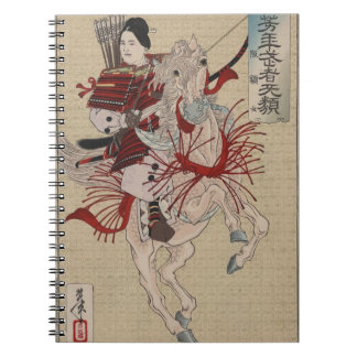 Hangakujo, Female Samurai circa 1885 Spiral Notebook