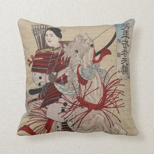 Hangakujo, Female Samurai circa 1885 Pillow