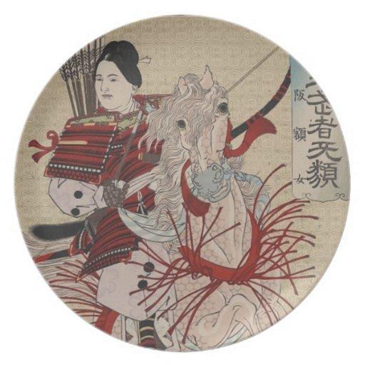 Hangakujo, Female Samurai circa 1885 Plates