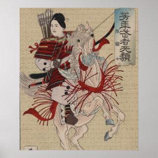 Hangakujo, samurai de sexo femenino circa 1885 póster