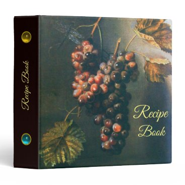 Professional Business HANGED GRAPES RUSTIC KITCHEN RECIPE BOOK BINDER