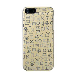 Hangeoul Metallic Phone Case For iPhone SE/5/5s