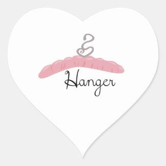 Hanger Heart Sticker