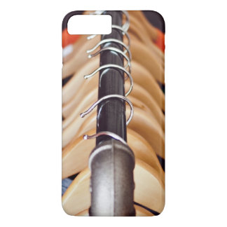 Hanger Themed, Shirts Of Various Colors On Wooden iPhone 8 Plus/7 Plus Case