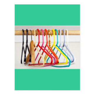 Hangers in Many Colors Post Cards