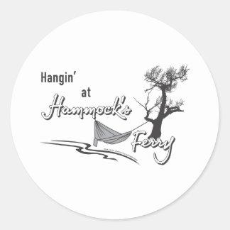 Hangin at hammocks Ferry Classic Round Sticker