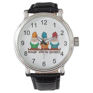 Hangin con mi Gnomies Relojes De Pulsera