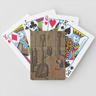 Hangin de la guitarra con las herramientas cartas de juego