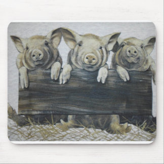 hangin de los cerdos hacia fuera tapetes de ratón