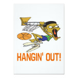 Hangin hacia fuera invitación 12,7 x 17,8 cm