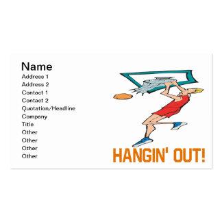 Hangin hacia fuera plantillas de tarjetas personales