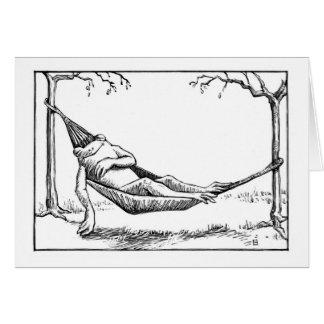Hangin hacia fuera tarjeta de felicitación