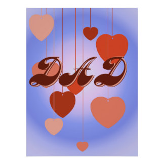 Hangin' Hearts DAD Poster