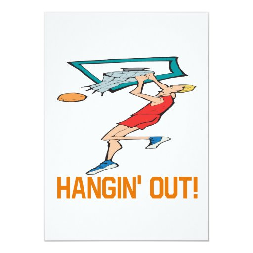Hangin Out 5x7 Paper Invitation Card