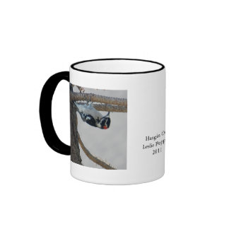 Hangin Out by Leslie Peppers Ringer Coffee Mug