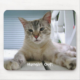 Hangin' Out! Cat Mouse Pad