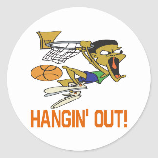 Hangin Out Classic Round Sticker
