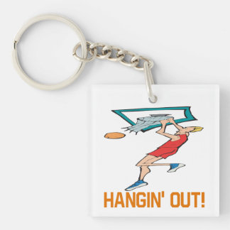 Hangin' Out Square Acrylic Key Chains