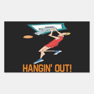 Hangin Out Rectangular Sticker