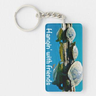Hangin' with friends acrylic keychain