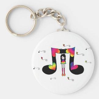 Hangin' with Music Keychain