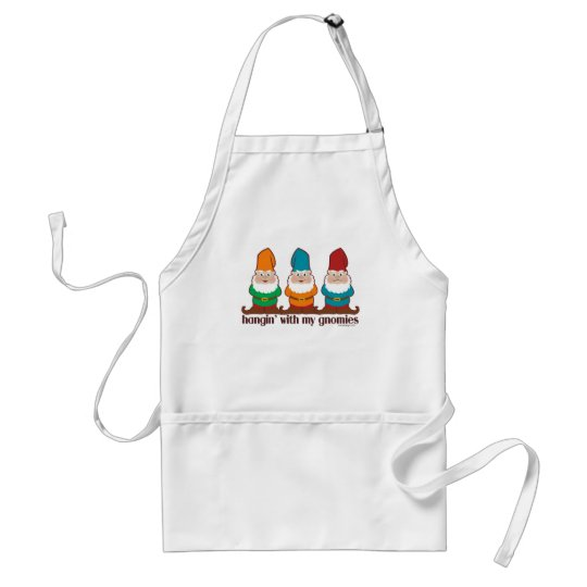 Hangin' With My Gnomies Adult Apron