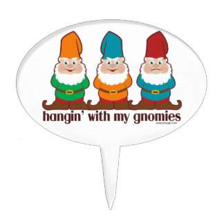 Hangin' With My Gnomies Cake Toppers