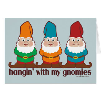 Hangin' With My Gnomies Card