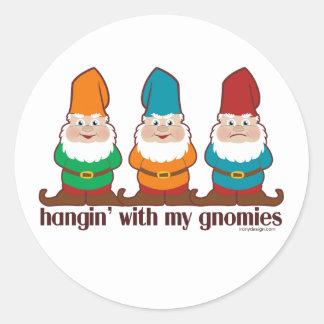 Hangin' With My Gnomies Classic Round Sticker