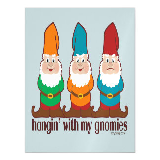 Hangin' With My Gnomies Humor Magnetic Card