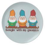 Hangin' With My Gnomies Melamine Plate