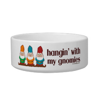 Hangin' With My Gnomies Cat Food Bowls