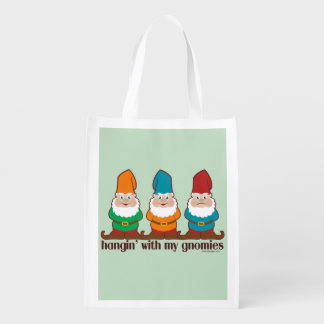 Hangin' With My Gnomies Reusable Grocery Bag