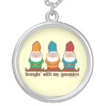 Hangin' With My Gnomies Round Pendant Necklace