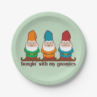 Hangin' With My Gnomies 7 Inch Paper Plate
